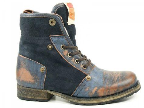 Nobrand Schuhe Damen Stiefeletten Boots Wollfutter Seligman L 10004S, Schuhgröße:37;Farbe:Blau: Amazon.de: Schuhe & Handtaschen