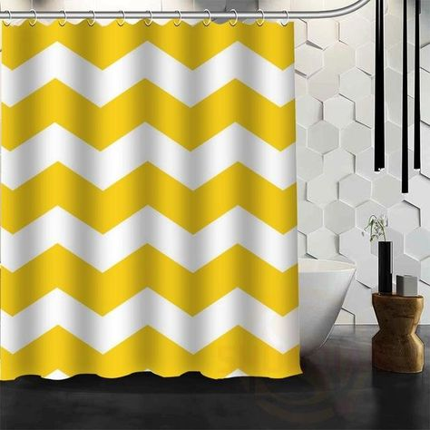 Colorful Chevron Print Waterproof Fabric Shower Curtain In 2018