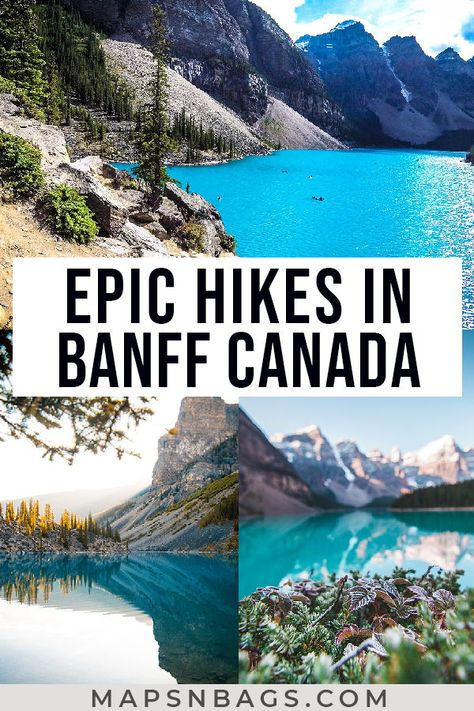 Check out the most beautiful trails in the Canadian Rockies! This guide to the best hikes in Banff has all info you need, including recommended outfit, lakes to visit, and much more for your adventure! Check it out now! Banff National Park Canada, Banff Canada, Alberta Canada, Banff Alberta, Travel Photography Tumblr, Photography Beach, Hiking Photography, Vancouver, Canada Travel
