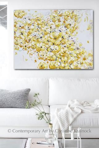 Abstract Painting Fl Flowers