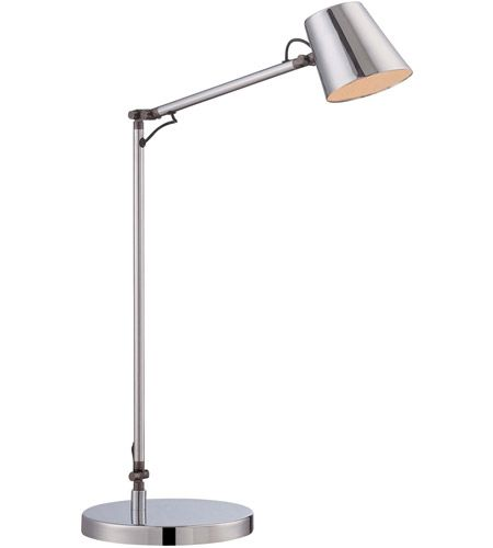 George Kovacs P303 1 077 L George S Reading Room 19 Inch 7 00 Watt Chrome Task Lamp Portable Light Modern Desk Lamp Table Lamp Task Lamps