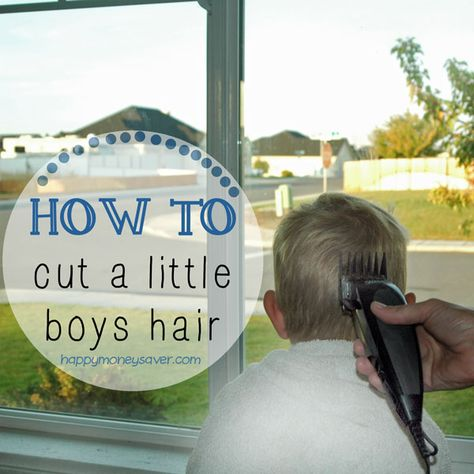 How to Cut Your Little Boys Hair - Lots of pictures and a guide to help you learn. (Happymoneysaver.com) Not sure if I'm brave enough to try it ...