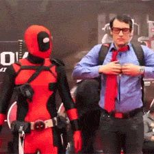gif -- Deadpool and Superman. My favorite Deadpool gif