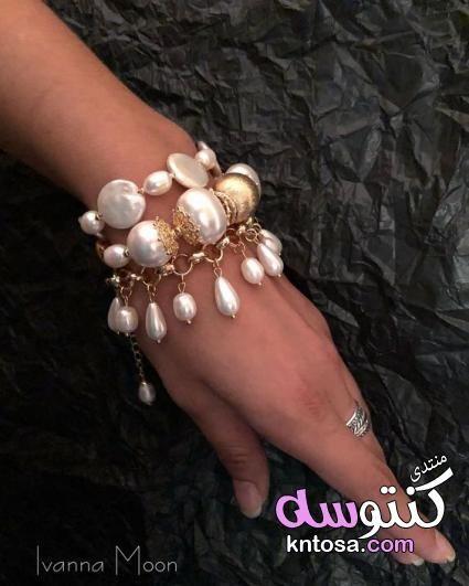 اساور يد 2019 اساور يد باللولى تزيين الاساور باللولى اجمل الاساور للبنات اجمل اكسسوارات البنات 2019 Kntosa Com 21 1 Jewelry Beaded Bracelets Handmade Bracelets