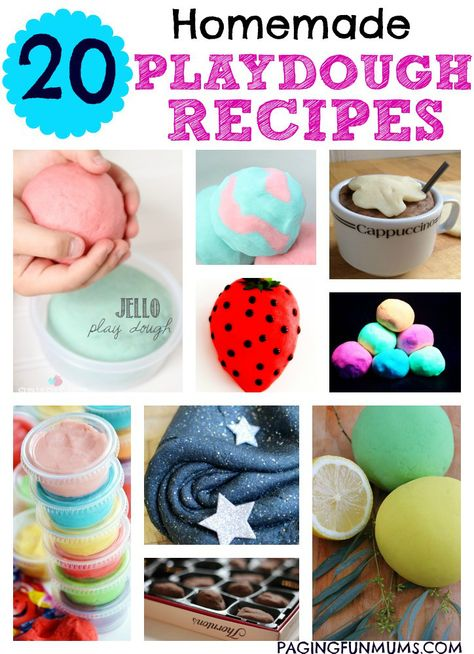 20 Homemade Playdough Recipes - our ultimate FAVOURITE recipes on the net! We've rounded up the best of the best just for you!