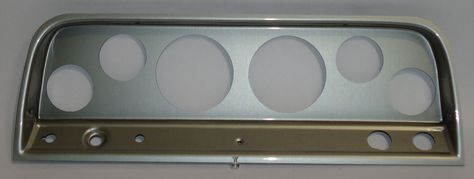 64-66 Chevy Truck Silver Dash Carrier Panel for 3-3/8