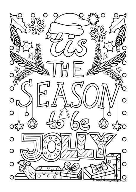 - Tis The Season To Be Jolly Colouring Page Kids Christmas Coloring Pages,  Kids Printable Coloring Pages, Coloring Pages Inspirational