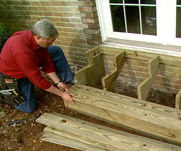 Build Wooden Exterior Steps | Editor, Gardens and Decking