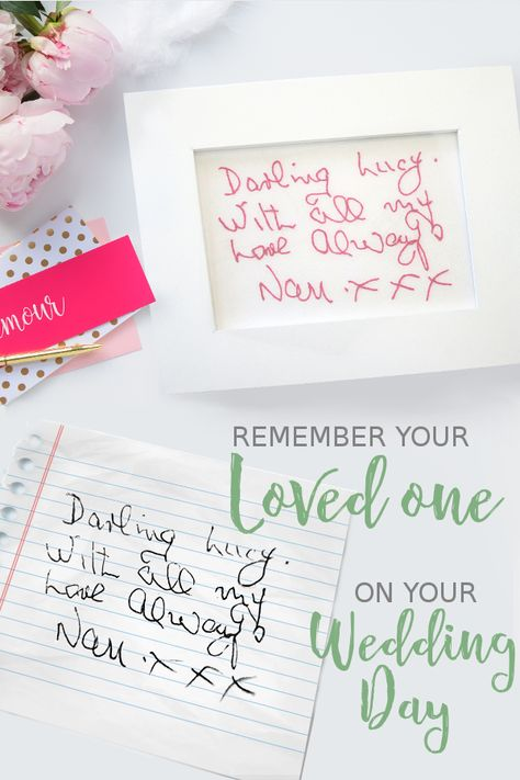 how to buy look out for look out for Wedding memorial gift - Custom handwriting gifts - In memory ...