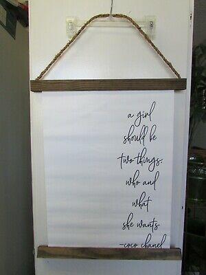 Coco Chanel Motivational Quote Canvas Wall Art Wood Canvas Scroll Farmhouse Art Fashion Home Garden Homedcor Poste Canvas Quotes Wood Canvas Farmhouse Art