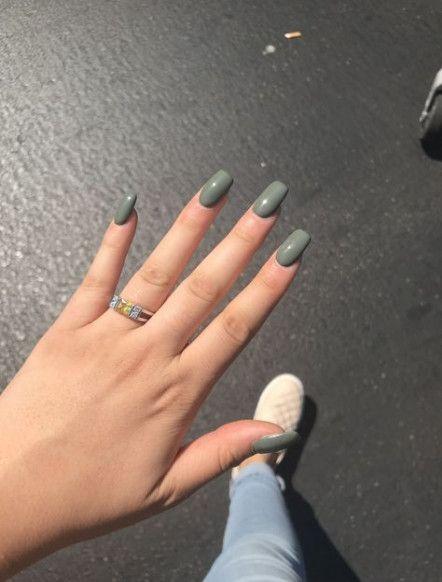 46 Trendy Nails Acrylic Tumblr Simple Green Acrylic Nails Green Nails Green Nail Art