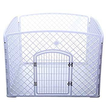 Security Gate Indoor Safety Gates Foldable Metal Exercise Pen Pet Playpen For Dog Cat Small Mediun Animals Hous In 2020 Metal Dog Kennel Pet Playpens Dog Kennel Cover
