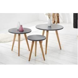 3er Set Retro Beistelltische Scandinavia Meisterstuck 50cm Graphit Buche Riess Ambienteriess Ambient Modern Table Coffe Table Coffee Table