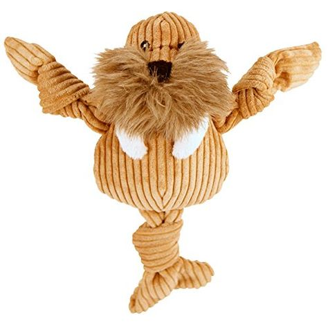 Hugglehounds Plush Corduroy Durable Knotties Walrus Knottie Large