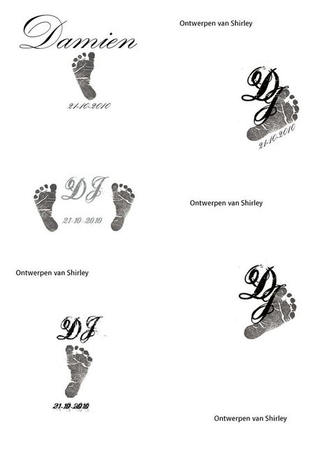 I designed this tattoo for my husband with my son's initials. Damien Johannes in short ''DJ''.
