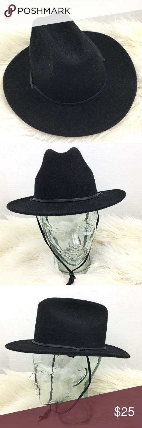 a10705f853da3 Kid s Sorrel Felt Cowboy Hat with Chin Strap Black Gently used condition  From a nonsmoking home