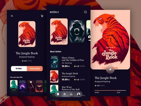 eBook App Concept Sketch Freebie