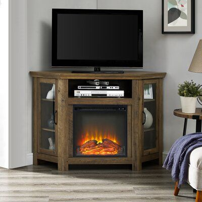 Tieton Corner Tv Stand For Tvs Up To 48 Inches With Electric