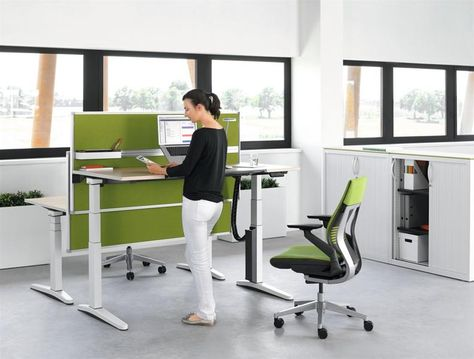 Ology By Steelcase Adjustable Height Desk Adjustable Desk Contemporary Home Office Furniture