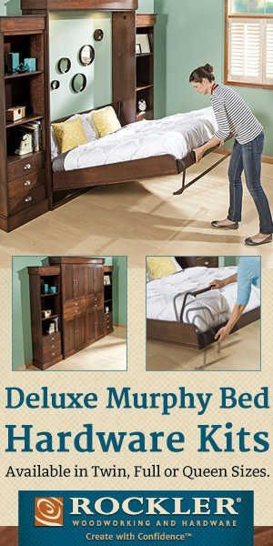 Murphy Bed Plans, Twin Size Deluxe Murphy Bed Kit