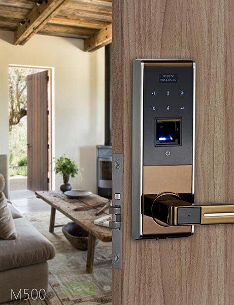 Avent Security M500 Finger Print Door Lock With Touch Screen Keypad Frontdoor Keypad Door Locks Smart Door Locks Digital Door Lock
