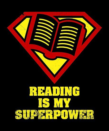 Reading Is My Superpower Shirt Poster By Warmfeelapparel Library Book Displays Reading Posters School Library Book Displays