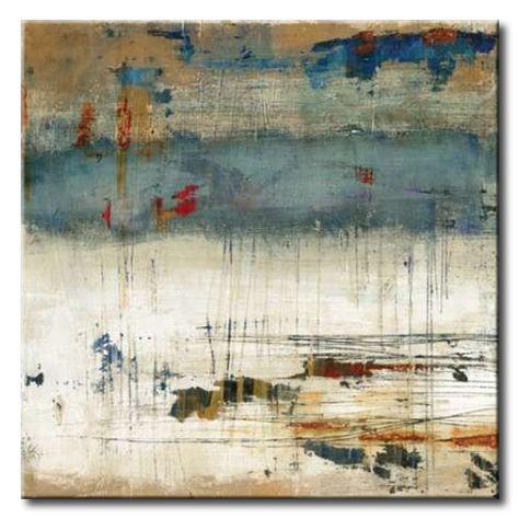 32_BRl04 _ Torn II / Cuadro Abstracto, Pintura Rascada