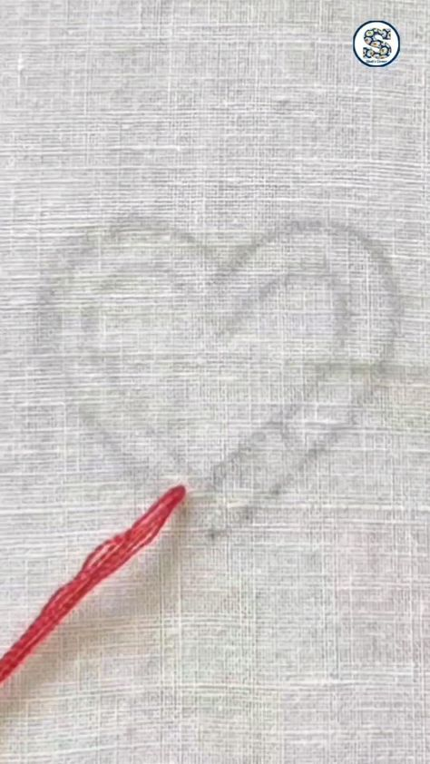Hand Embroidery Tutorial For Beginners, Heart Design
