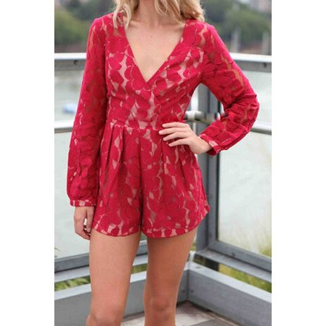 Red lace romper- NEED!