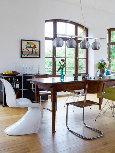 Sedie Da Abbinare A Tavolo In Legno.Come Abbinare Tavolo Antico E Sedie Moderne Nel 2020 Sedie