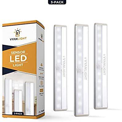 Led Closet Light Motion Activated Cordless Under Cabinet Motion Sensor Light Wireless Stick On Anyw In 2020 Motion Sensor Lights Led Closet Light Sensor Night Lights
