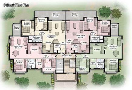 51 Ideas For Apartment Building Modern Floor Plans Apartment Building Apartment Plans Modern Floor Plans