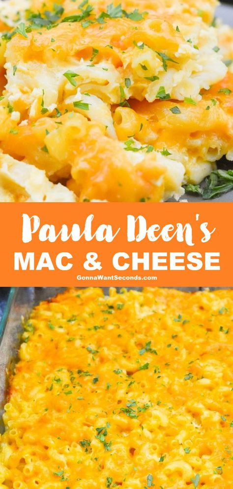 *NEW* From the queen of southern cooking, Paula Deen Mac and Cheese checks all the boxes for unforgettable mac and cheese- custardy, cheesy, delicious! recipe mac and cheese Paula Deen Mac and Cheese (Preps in 20 mins! Mac N Cheese Recipe Southern, Southern Macaroni And Cheese, Cheesy Mac And Cheese, Best Macaroni And Cheese, Southern Recipes, Paula Deen Mac And Cheese Recipe Baked, Macaroni Salad Recipe Paula Deen, Southern Food, Hashbrown Casserole