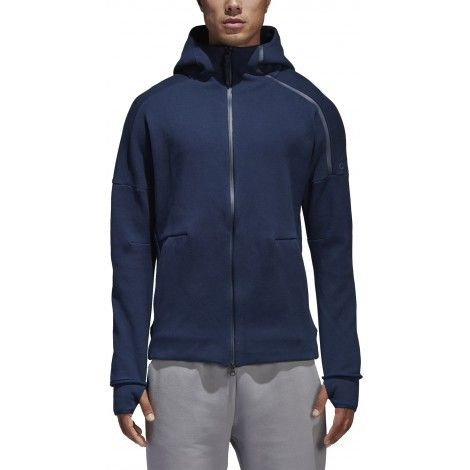 Uomo Performance Felpa Zne Pulse Light Grey grigiobianco, Adidas Grigio|Bianco Felpe