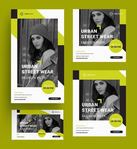 Urban Fashion Social Media Template PSD, AI, EPS