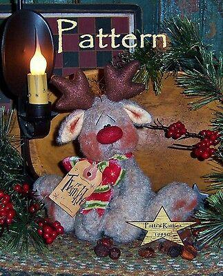 Patti/'s Ratties Primitive Christmas Peppermint Orni Doll Paper Pattern 668