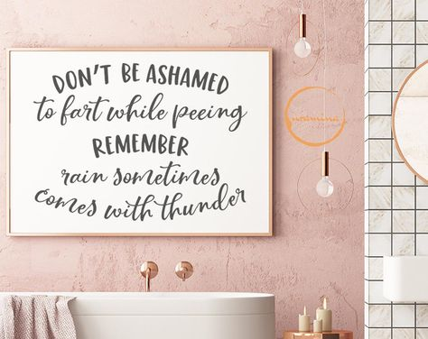 Bathroom Quote SVG Home Cut Files for Cricut Silhouette Funny | Etsy