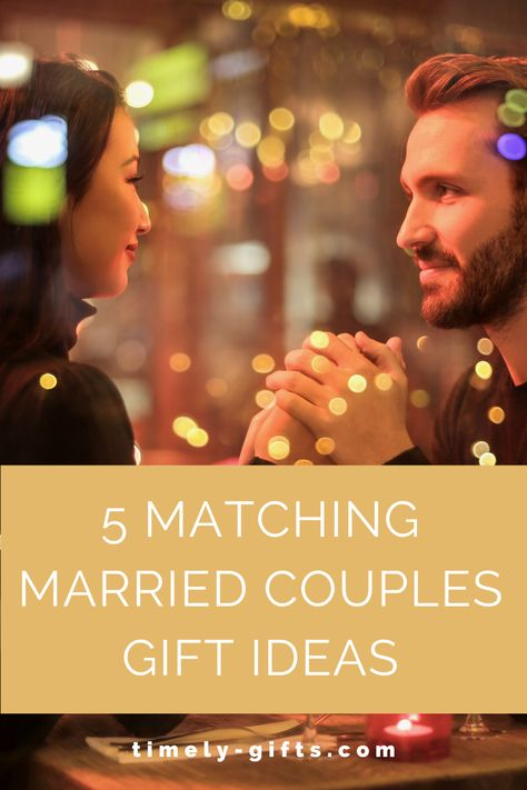 Want some couples gifts ideas married? This article will have some fun matching married couple gift ideas. These gifts are great for weddings, anniversaries, valentine's day, Christmas, birthdays etc. Check out these great married couple gift ideas! #firstanniversary #weddinggifts #christmasgifts #valentinesdaygifts #mr&mrs #him&hergifts #ideas #couplegifts #giftsforher #giftsforhim #matchinggifts