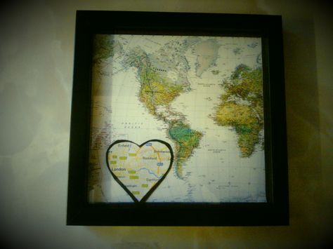 Map frame world map with where you live smaller map bits and bobs map frame world map with where you live smaller map gumiabroncs Gallery