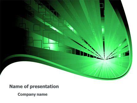 Modèle Powerpoint Gratuit De Lumière Verte Power Modèle