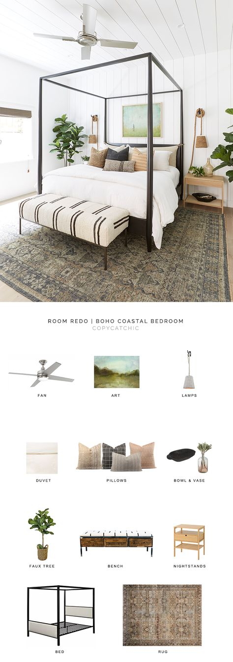 california style bedroom look for less boho coastal bedroom copycatchic luxe living for less budget home decor and design daily finds home trends sales budget travel and room redos Indian Home Decor, Unique Home Decor, Home Decor Styles, Home Decor Accessories, Cheap Home Decor, Home Bedroom, Bedroom Decor, Master Bedroom, Bedroom Rugs
