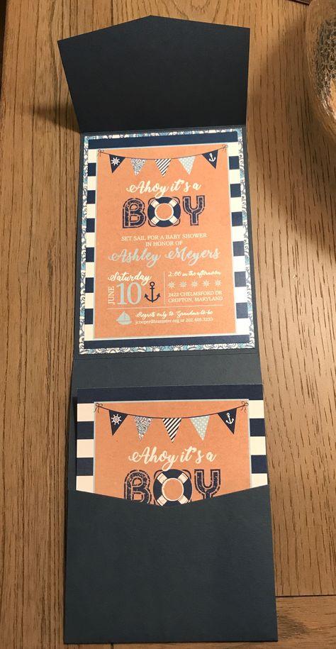 Julie Cooper Designs -- Nautical Baby Shower invitations. Original design