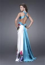 Turquoise pretty much my prom dress just a different back and straps. love the new back