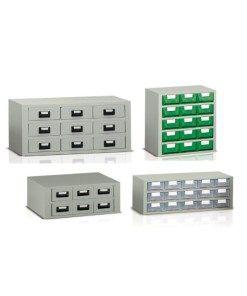 Cassettiere In Plastica Per Minuterie.Cassettiere Porta Minuteria Con Cassetti In Lamiera E Plastica