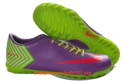 Medium Purple Green Deep Pink Nike Mercurial Vapor X TF Soccer Cleats a0f6c3c94e