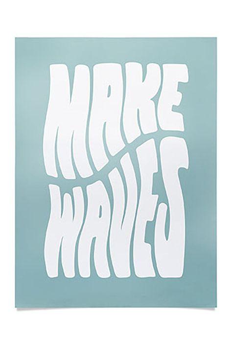 Deny Designs Phirst Make Waves Pale Blue Poster, Size One Size - Multi at Nordstrom Rack