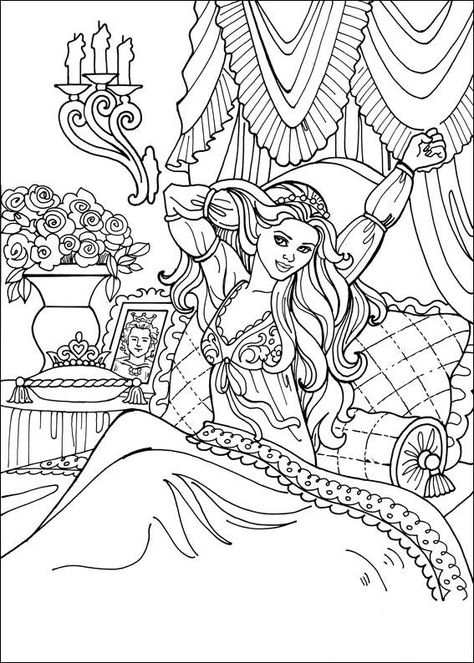 outstanding complex coloring pages of princesses adornment example