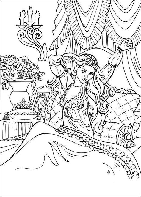 Princess Leonora Princess Coloring Pages Barbie Coloring Pages