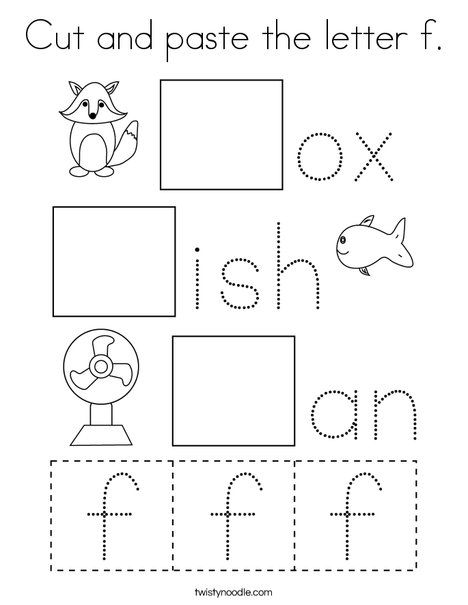 Pin On Letter Coloring Pages Worksheets And Mini Books Kindergarten worksheets cut and paste