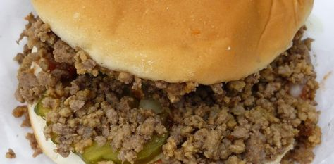 """IOWA""""S *Maid Rites!! Slow cooker loose meat sandwich.. 2 T. dried onions, 1 T. warm water, 3 lbs ground beef, 1 beef boullion cube, 1 chicken boullion cube, 1 1/2 c. water, 1 T. worchestershire sauce, 1 T. soy sauce, 2 T. cider vinegar, 2 T. brown sugar. KEEPER!"""